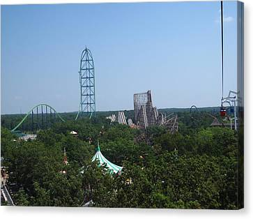 Sixflags Canvas Print - Six Flags Great Adventure - 12128 by DC Photographer