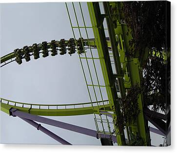 Six Flags Great Adventure - Medusa Roller Coaster - 12122 Canvas Print
