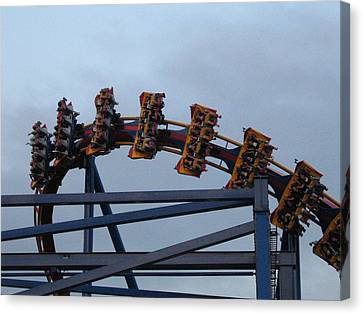 Six Flags Great Adventure - Medusa Roller Coaster - 12127 Canvas Print