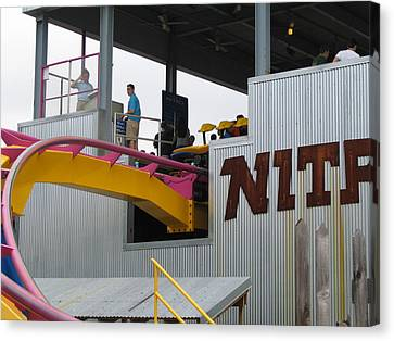 Six Flags Great Adventure - Nitro Roller Coaster - 12124 Canvas Print by DC Photographer