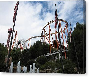 Six Flags Magic Mountain - 12123 Canvas Print by DC Photographer