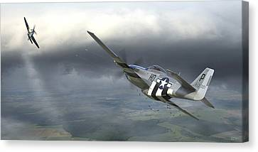 Fighter Canvas Print - Six On The Sixth by Robert Perry