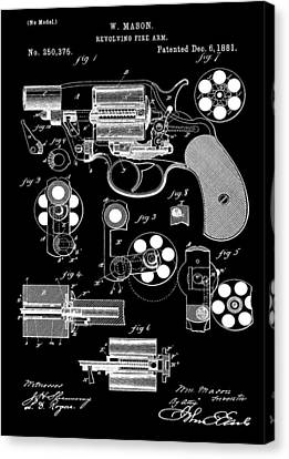 Six Shooter Patent Canvas Print by Dan Sproul