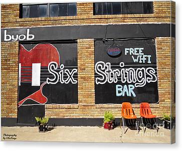 Six Strings Bar - You Might Be A Redneck If Canvas Print by Ella Kaye Dickey