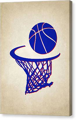 Sixers Team Hoop2 Canvas Print by Joe Hamilton