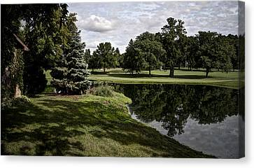 Sixth Hole Reflections Canvas Print