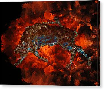 Sizzle Canvas Print by Stuart Turnbull