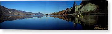 Canvas Print featuring the photograph Skaha Lake Kayaking Panorama by Guy Hoffman
