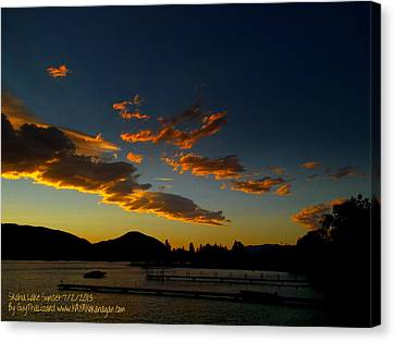 Canvas Print featuring the photograph Skaha Lake Sunset 02 July02/2013 by Guy Hoffman