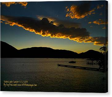 Canvas Print featuring the photograph Skaha Lake Sunset July02/2013 by Guy Hoffman