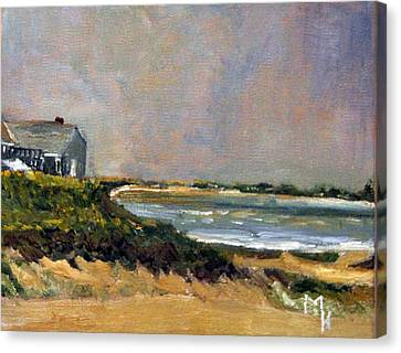 Skaket Beach Orleans Canvas Print by Michael Helfen