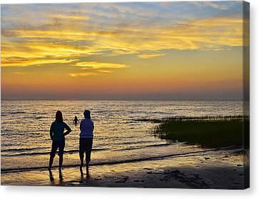 Skaket Beach Sunset 4 Canvas Print by Allen Beatty