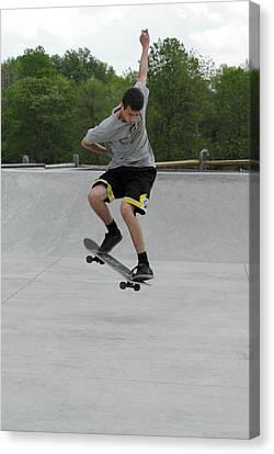 Skateboarding 1 Canvas Print by Joyce StJames