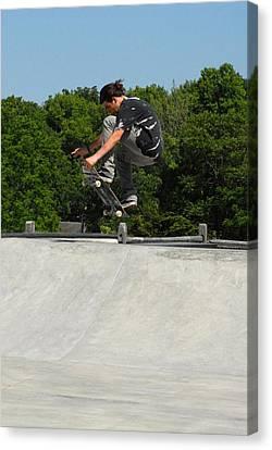 Skateboarding 10 Canvas Print by Joyce StJames
