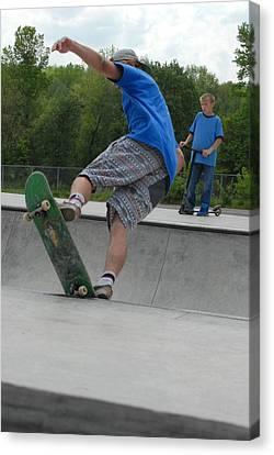 Skateboarding 11 Canvas Print by Joyce StJames