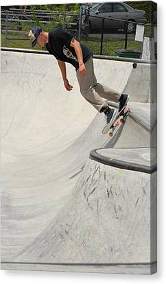 Skateboarding 14 Canvas Print by Joyce StJames