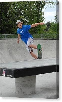 Skateboarding 2 Canvas Print by Joyce StJames