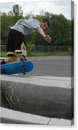 Skateboarding 3 Canvas Print by Joyce StJames