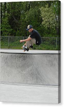 Skateboarding 4 Canvas Print by Joyce StJames