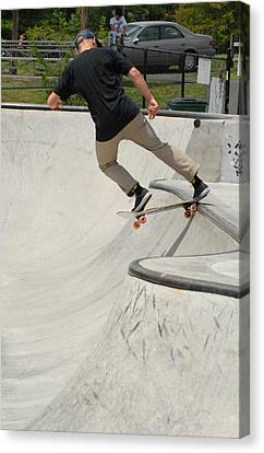 Skateboarding 5 Canvas Print by Joyce StJames