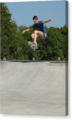 Skateboarding 6 Canvas Print by Joyce StJames