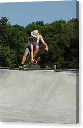 Skateboarding 7 Canvas Print by Joyce StJames