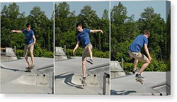 Skateboarding 8 Canvas Print by Joyce StJames