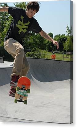 Skateboarding 9 Canvas Print by Joyce StJames
