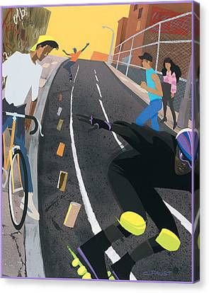 Skater Canvas Print by Clifford Faust