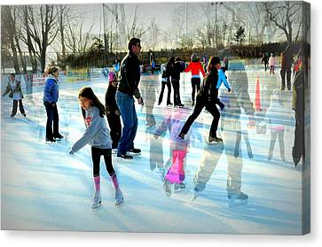Skaters Canvas Print by Diana Angstadt