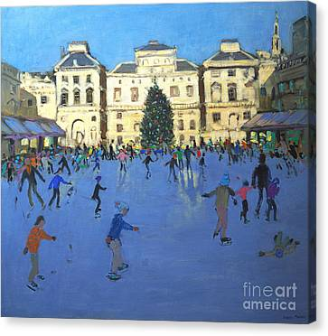 Skaters  Somerset House Canvas Print