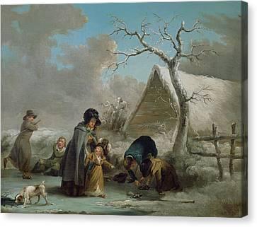 Skating, 1792 Canvas Print