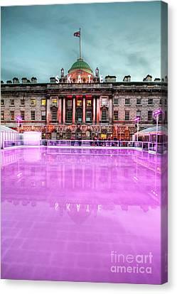 Skating At Somerset House Canvas Print by Jasna Buncic