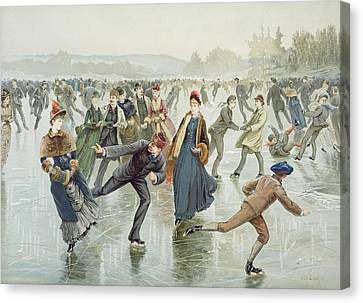 Skating Canvas Print by Harry Sandham
