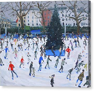 Skating  Natural History Museum Canvas Print by Andrew Macara