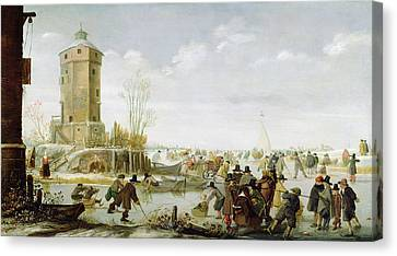Skating Scene  Canvas Print by Barent Avercamp