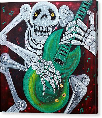 Skeleton Guitarist Canvas Print