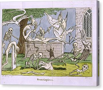 Skeletons Canvas Print by British Library