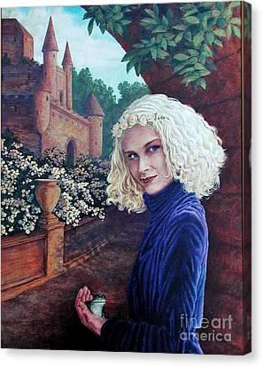 Skeptical Princess Canvas Print by Laura Sapko