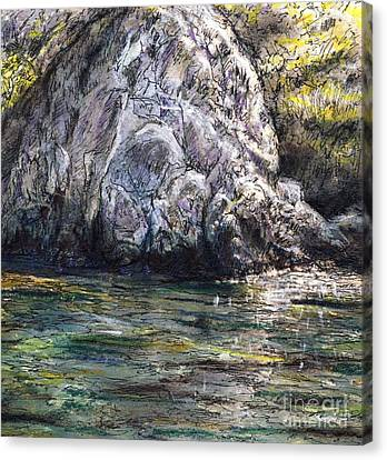 Sketch At Lions Head Catalina Canvas Print by Randy Sprout