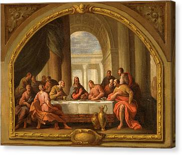 Sketch For The Last Supper Canvas Print by Litz Collection