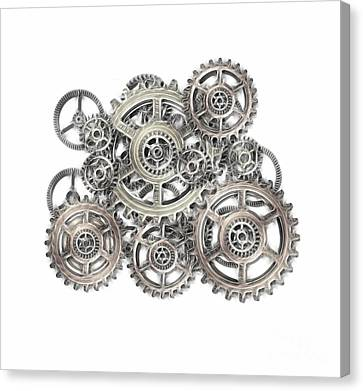 Sketch Of Machinery Canvas Print