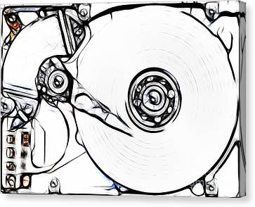 Sketch Of The Hard Disk Canvas Print by Michal Boubin