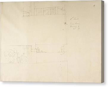 Sketch Of The Tombs At Gourna In Egypt. Canvas Print by British Library