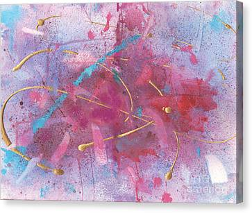 Sketchbook Explosion Canvas Print by Ellen Howell