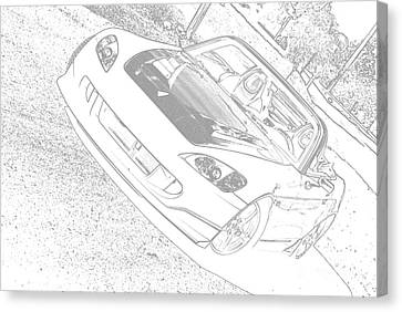 Sketched S2000 Canvas Print by Eric Liller