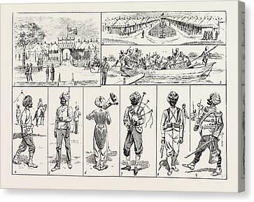 Sikh Art Canvas Print - Sketches At The Rawul Pindi Durbar, 1885. 1. Entrance by English School