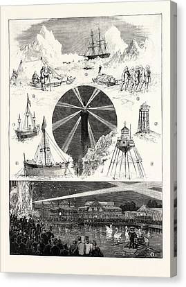 Sketches At The Royal Naval Exhibition 1. H.m.s Canvas Print by English School
