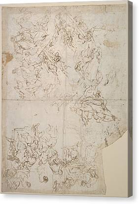 Sketches For Compositions And Groups Canvas Print