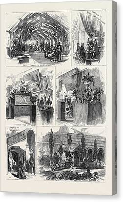 Sketches In The International Exhibition 1871 Canvas Print by English School